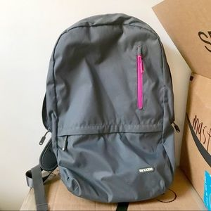 Incase Laptop Backpack — Gray and Pink